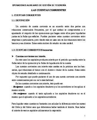 Las Cuentas Corrientes