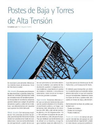Postes De Baja Y Torres De Alta Tensión