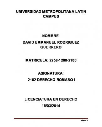 2102 Dere - Universidad Metropolitana Latin Campus