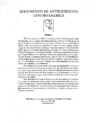 Documento De Antecedentes: Centro America