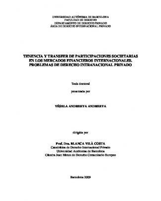 Tenencia Y Transfer De Participaciones