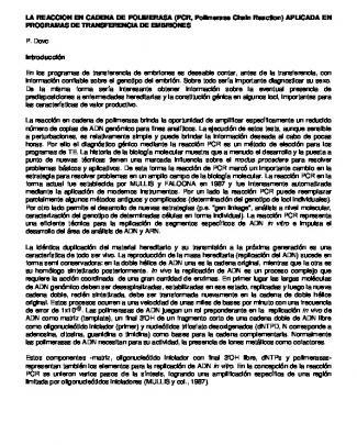 La Reaccion En Cadena De Polimerasa (pcr