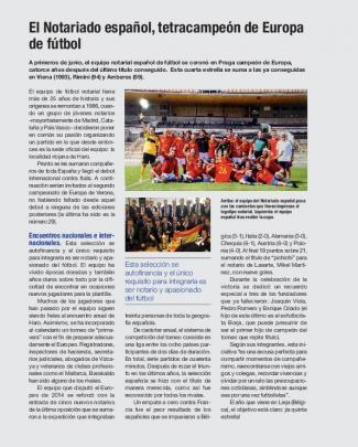 El Notariado Español, Tetracampeón De Europa De Fútbol