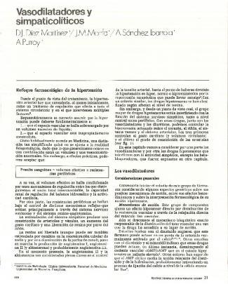 Vasodilatadores Y Simpaticolíticos