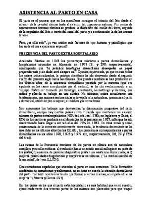 Asistencia Al Parto En Casa. Dr. Pablo Saz Peiro