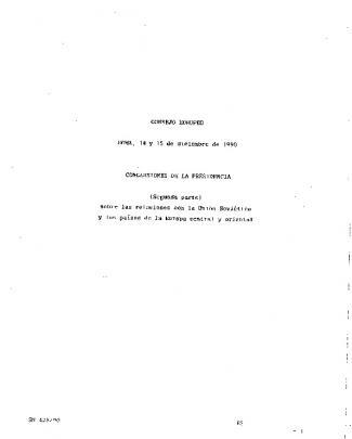 Consejo Europeo Roma, 14 Y 15 De Diciembre De 1990
