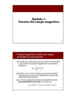 Módulo 7: Fuentes Del Campo Magnético