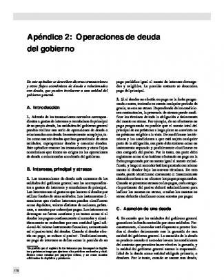 Apéndice 2:operaciones De Deuda Del Gobierno