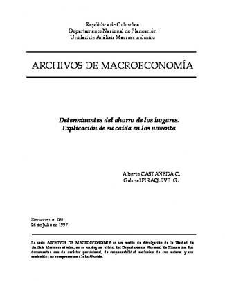 Archivos De Macroeconomía - Dnp Departamento Nacional De
