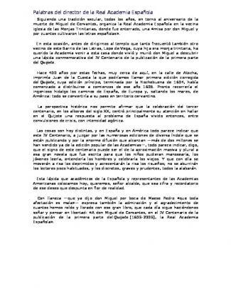 Palabras Del Director De La Real Academia Española