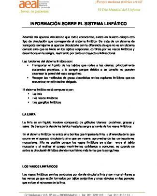 Información Sobre El Sistema Linfático