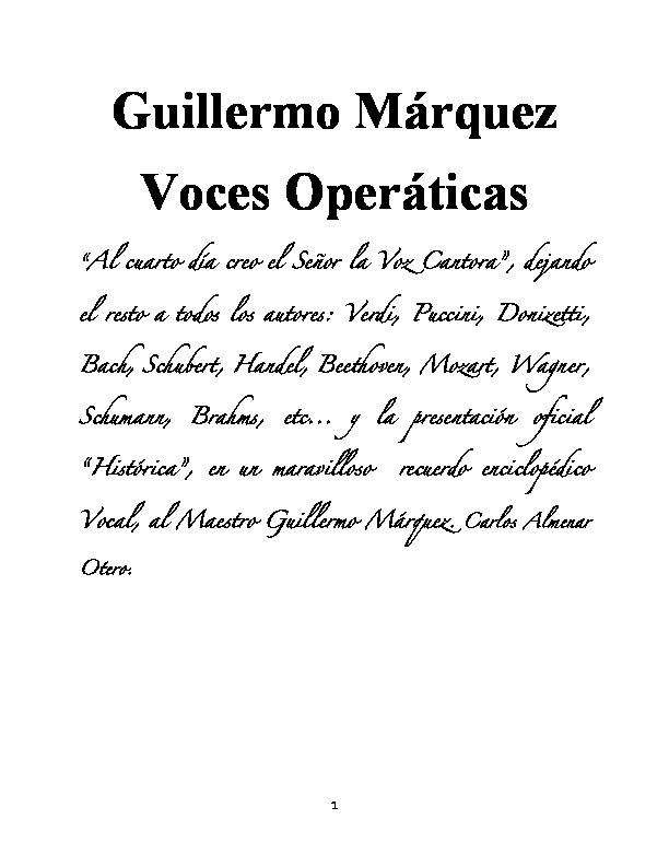 Voces Operaticas Proyecto De Libro Id5c020cf2e0359
