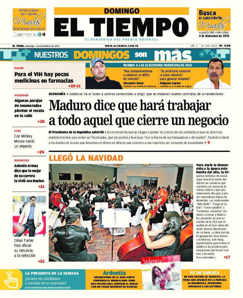 e96b8f17a1a Maduro Dice Que Hará Trabajar A Todo Aquel Que Cierre Un - ID 5c140e1d77ea9