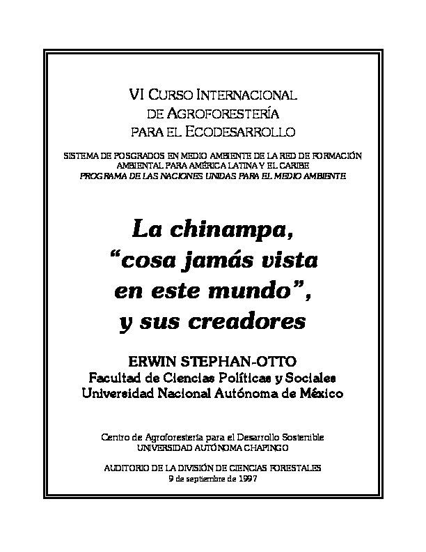 Conferencia Sobre Chinampas Parque Ecológico De Xochimilco