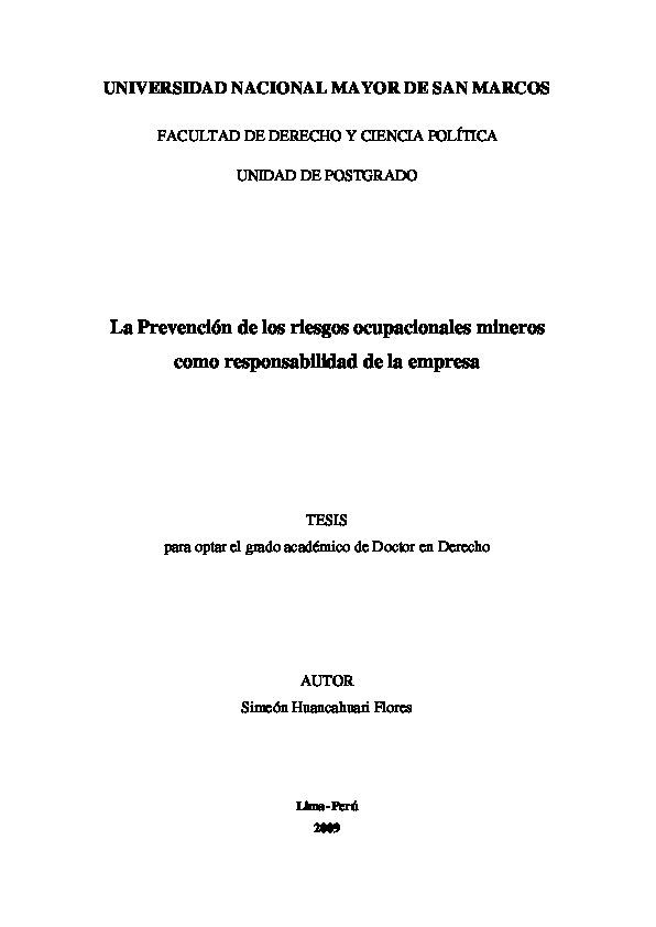 b732a018e50f La Prevención De Los Riesgos Ocupacionales Mineros Como - ID 5c63282b25f2b