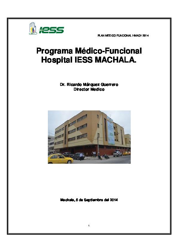 Programa Médico Funcional Hospital Iess Machala Id 5ec59c9eb2d2b